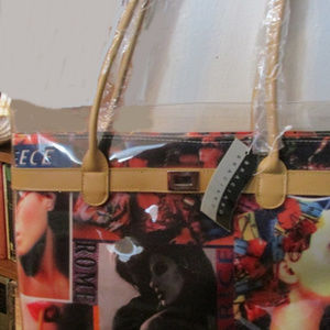Braciano bag NWT plastic wrappers still on handles